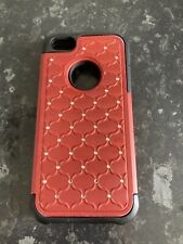 Iphone 5 caso resistente rojo brillante Hermoso