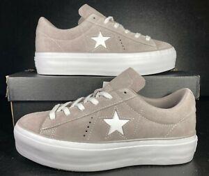 Converse One Star Platform Ox Lift Sneaker Mercury Grey Suede 563870C 9 Women