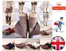 New Crochet Boot Cuffs Boot Toppers Socks Faux Leg Warmers One Size - UK Seller