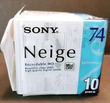 SONY Neige Series MiniDisk Recordable MD 74 Minutes Pack 10 New in Open Package