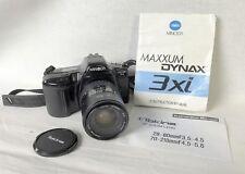 MINOLTA MAXXUM 3xi BLACK with Tokina AF ZOOM Lens 28-80 mm f-3.5-4.5.