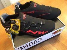 Northwave Flash Road Cycling Shoes. Black & Orange. Size EU46 UK12
