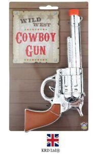 Cowboy Plastic Gun Toy Kid Wild West Costume Fun Pistol Revolver Fancy Dress B99