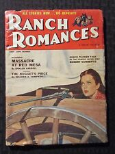 1953 June 5 RANCH ROMANCES Pulp Magazine VG- 3.5 Thrilling Western