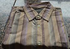 bonito camisa de rayas marrón MARLBORO CLASSICS TALLA M excelente estado