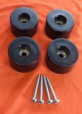Conjunto de 8 Pies De Goma Grande. tamaño: 38mm. diámetro x 15mm tornillos de alta. Inc.
