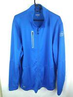 Ogio Men's 2XL XXL Intel Promotional Polyester Track Jacket - Cyan Blue