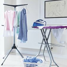 Addis 6-Arm Ironing Tidy Organiser & Cloth Airer Compact Folding Holds 48 Items