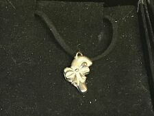 """Candy Cane TG198 English Pewter On 18"""" Black Cord Necklace"""
