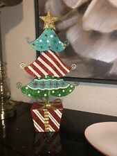Metal With Glitter Christmas Tree Decoration