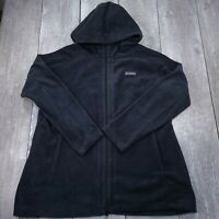 Columbia Benton Springs II Long Hoodie Full Zip Fleece Jacket Womens 2X Black