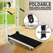 Manual Treadmill Folding Incline Walking Running Exercise Fitness Gym Machine