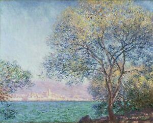 "CLAUDE MONET Art Poster or Canvas Print ""Antibes in the Morning"""
