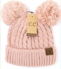 e39866714d8 C.C Beanie Solid Double Pom Beanie Indi Pink