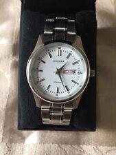 New Sekonda Mens watch silver round face white dial Date designer watch