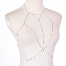 Retro Link Chain Bra Multilayer Sexy Beach Bikini Necklaces Body Chain PB