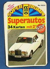 Quartett - Superautos + 2 SST Karten - FX SCHMID - Nr 53210 - SUPER TRUMPF - FXS