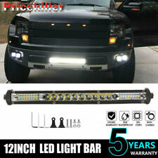 12INCH Slim striaght LED Light Bar Work Light Offroad Flood Spot Combo Boat ew