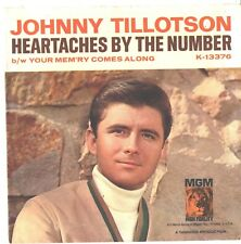 JOHNNY TILLOTSON--PICTURE SLEEVE ONLY--(HEARTACHES BY THE NUMBER)--PS--PIC--SLV