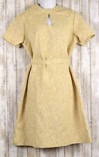 Beautiful Vintage Unbranded Short Sleeve Dress Size 18 1/2