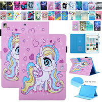 For iPad 5/6/7th Gen/Air 3 2 1/Mini 543 Patterned Smart Leather Flip Case Cover