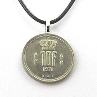 Collier pièce de monnaie Luxembourg 10 francs - Jean