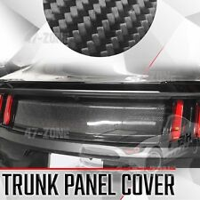 For 15-17 Ford Mustang Gloss Black Real Carbon Fiber Trunk Panel Cover Boot