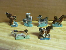 6 Fabulous Vintage Horse Figurines From The 1950s - Smaller Ones - Must See!