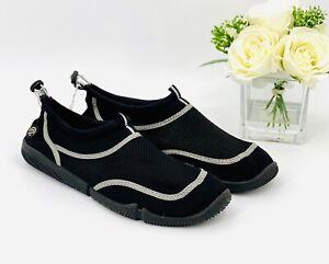 Champion Mens Titus Water Shoes Sz Small 7/8 Black Aqua Socks Water Sandal NEW