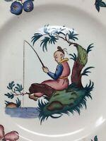 Assiette  Faience Sarreguemines Décors Au Chinois Asia Porcelain Plate n 3