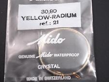 Mido Watch Crystal Waterproof Vintage 30.90mm Yellow Radium Tension Ring Ref#21