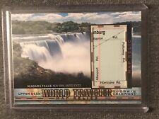2018 Upper Deck Goodwin Champions Niagra Falls SSP World Traveler Map Relic