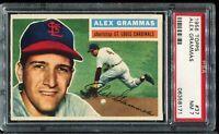 1956 Topps Baseball #37 ALEX GRAMMAS St Louis Cardinals PSA 7 NM