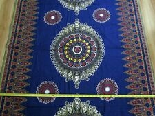 Cotton Quilting Fabric Asian Indian Double Border HUGE Medallions 3.75 YDS 46W