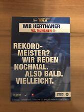 Programm Hertha BSC Berlin - FC Bayern München 01.10.17 FCB