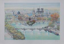 Rolf RAFFLEWSKI : Paris Vue de Notre Dame  - LITHOGRAPHIE originale signée #25ex