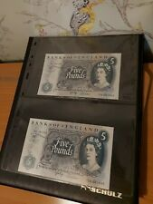 More details for a beautiful set of consecutive uncirculated page £5 notes.