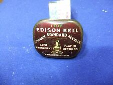 vtg needle tin edison bell chromic 100 semi permanent needles gramophone record
