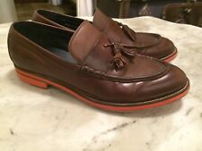 COLE HAAN tassel loafers slip ons brown leather  dress mens shoes sz 11 M