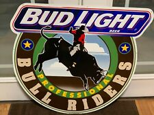 Bud Light Professional Bull Riders tin sign from 1995 Never Displayed