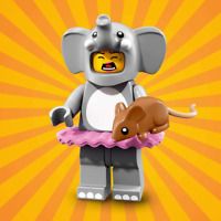 LEGO Minifigure Elephant Costume Girl Series 18 71021 REAL LEGO®!