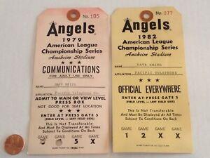 1979 & 1982 Vintage CALIFORNIA ANGELS credential TICKET STUBS baseball MLB ALCS