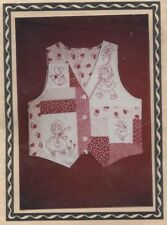 Sentimental Stitches 40209 Sewing Pattern Pieced/Embroidered Redwork Vest S M L