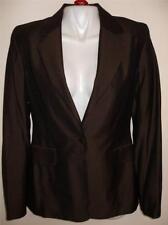 NEW Laundry by Shelli Segal One Button Blazer Jacket Metallic Brown Wool 8 $295
