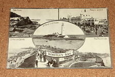 Vintage Postcard: Whitley Bay, St Mary Lighthouse, Table Rock, Links & Sand