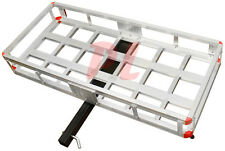 New listing 500 Lb. Aluminum Cargo Carrier Hitch Receiver Mount Luggage Large Loads Rack