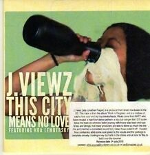 (CP256) J Viewz, This City Means No Love - 2010 DJ CD