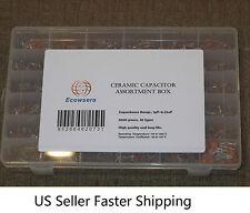 36 Value/Type 3600 pcs Ceramic Capacitor Assortment Box Kit 1pf to 0.22uF