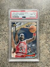 1994 Coll. Choice Michael Jordan Silver GERMAN #402 PSA 8 NM-MT