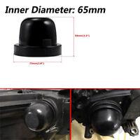 2 Pcs Car LED Light Rubber Housing Seal Cap Dust Cover for Headlight & Fog Lamp